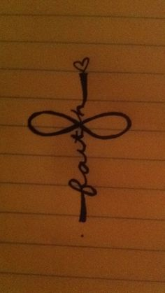 Infinity, faith, and cross tattoo.I would have to do it in wire for jewelry no tattoo's for me Tattoo Hals, 1 Tattoo, Piercing Tattoo, Body Art Tattoos, New Tattoos, Cool Tattoos, Tatoos, Tattoo Neck, Faith Tattoos