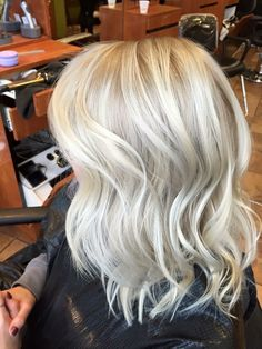 Icy white blonde.