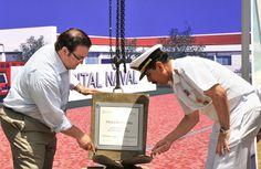 El Gobernador de Veracruz, Javier Duarte de Ochoa, colocó la primera piedra del Hospital Naval de Coatzacoalcos, acompañado por el comandante de la 3ª Zona Naval, vicealmirante Jorge Alberto Burguete Kaller.