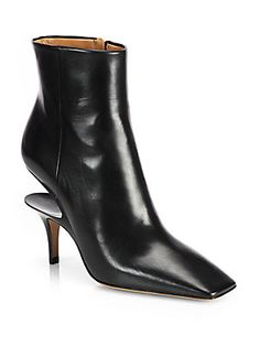 afbe417ff2a Maison Margiela - Leather Cutout-Heel Ankle Boots