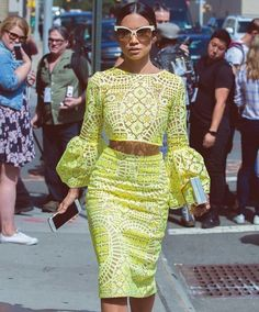 Jessi Malay at New York Fashion Week 2015 African Attire, African Wear, African Women, African Dress, African Print Fashion, Africa Fashion, Fashion Prints, Fashion Design, African Prints