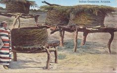 Arizona Postcard Indian Granaries 1917 Miss Arizona, Indian Village, Cowboys And Indians, Air Force Bases, First Nations, Postcards, Around The Worlds, Traditional, Greeting Card