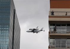 Piggyback Space Shuttle over NYC, from Reuters.