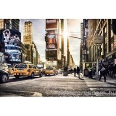With a spectacular view of the Times Square Tower, this energetic wall mural is illuminated in perfect light. Walk the streets of New York and partake in the sights and sounds of the city with this wide x high 4 panel mural. Manhattan Times Square, Times Square New York, New York City Manhattan, Fabric Wallpaper, Of Wallpaper, Photo Wallpaper, Amazing Wallpaper, Glass Sticker Design, Large Wall Murals