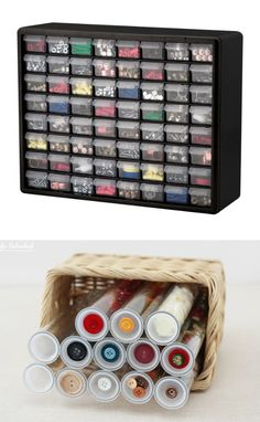 13 Life-Changing Craft Room Organization Ideas If you love crafting like I do, I am sure you will love life-changing craft room organization ideas, which will definitely help you at home Scrapbook Organization, Sewing Room Organization, Craft Room Storage, Diy Storage, Makeup Organization, Organizing Ideas, Organising, Ribbon Organization, Paper Storage