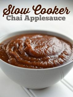 Slow cooker chai applesauce. So easy to make and so delicious. Click through for the recipe! Queen Bee Coupons