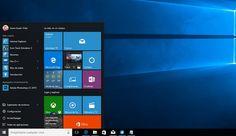 Escritorio de Windows 10 con Menú Inicio desplegado y diversos Live Tiles anclados - Proporcionado por Microsoft Insider