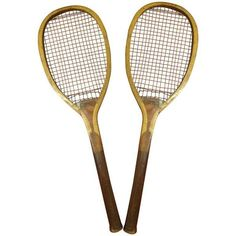 Vintage Pastime Tennis Rackets - Pair ($249) ❤ liked on Polyvore featuring home, home decor, fillers, decor, vintage home accessories and vintage home decor