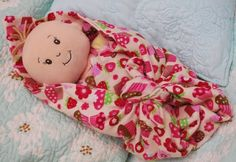 My youngest daughter is almost 2 and always has trouble keeping her baby dolls wrapped up in their blankets. I came up with a way so her d...