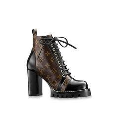 LOUIS VUITTON Official USA Website - Discover expertly crafted designer boots and booties for women from Louis Vuitton. Shop styles from heeled boots to leather ankle boots and booties. High Heel Boots, Heeled Boots, Bootie Boots, Shoe Boots, Shoes Heels, Lv Boots, Platform Boots, Louis Vuitton Boots, Louis Vuitton Handbags