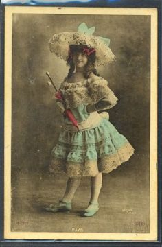 PG157-ARTIST-STAGE-STAR-PAYS-Large-HAT-Tinted-PHOTO-pc-WALERY