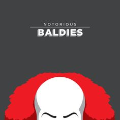 Pennywise (It) | 15 Glorious Illustrations Of Pop Culture's Favorite Baldies