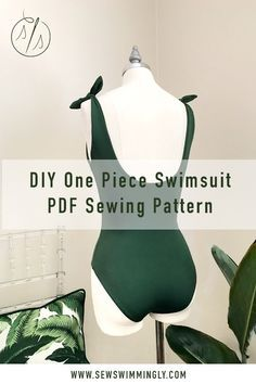 Sew your own DIY seamless one piece swimsuit with this PDF sewing pattern! Click through for more details. #diyswimsuit #diyswimwear #diyfashion #sewing #sewingpattern #sewingtutorial