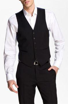 John Varvatos Star USA Wool Front Vest    $125.00