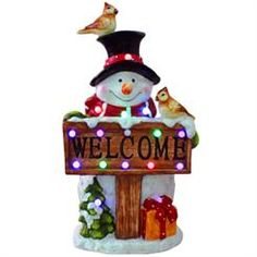 Musical Snowman Welcome Sign