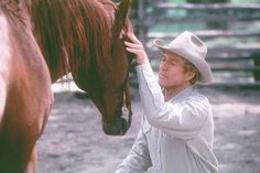 """ On the set of the film ""The Horse Whisperer,"" Buck Brannaman said to Robert Redford, ""If this movie thing doesn't work out for you, I think you could make a living doing this."