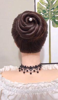 Hair Scarf Styles, Hair Up Styles, Medium Hair Styles, Hairdo For Long Hair, Bun Hairstyles For Long Hair, Pony Hairstyles, Headband Hairstyles, Hair Style Vedio, Hair Tutorials For Medium Hair