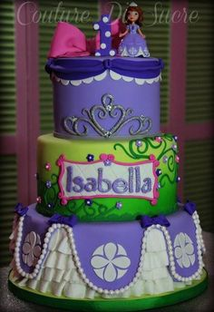 Sophia The First Cake looks yummy Princess Sofia Party, Prince Cake, Ice Cream Cupcakes, Cupcake Frosting, Looks Yummy, Sweet Cakes, Fruit Recipes, Amazing Cakes, Birthday Cake