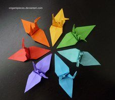 Origami Cranes by OrigamiPieces