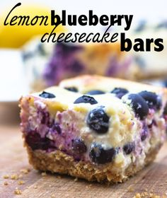 Lemon Blueberry Cheesecake Bars - pipandebby.com