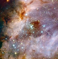 Astronomers using data from ESO's Very Large Telescope (VLT), at the Paranal Observatory in Chile, have made an impressive composite of the nebula Messier 17, also known as the Omega Nebula or the Swan Nebula. The image shows a central region about 15 light-years across, although the entire nebula is even larger, about 40 light-years in total. Messier 17 is in the constellation of Sagittarius (the Archer), about 6000 light-years from Earth. - Credit: ESO/R. Chini