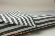 organic rib knit Gray and white | Cotton Rib Fabric | Paapii USA | Organic Euro Rib Knits