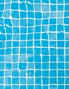 Color Azul  - Blue!!! Warped Grid (Floor of Swimming Pool)