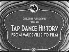 Tap Dance History - trailer