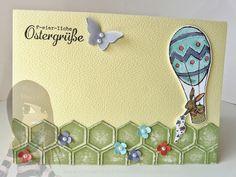 Stampin' Up! - Osterkarte - Hasenparade - Itty Bitty - Mini-Schmetterling - Honigwaben - rosamaedchen.blogspot.de