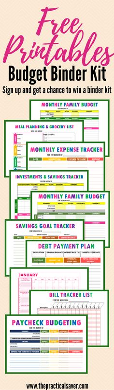2017 Budget Binder Printable: How To Organize Your Finances