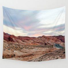 Wall Tapestry Desert Mountains Landscape by SusansPrintShop