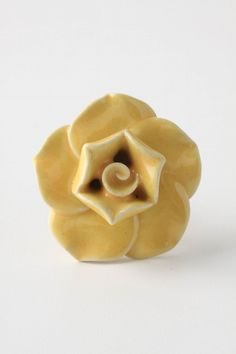Yellow Flower Drawer Pull