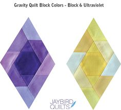 Gravity Quilt Block Colors - Block 6 Ultraviolet | Jaybird Quilts