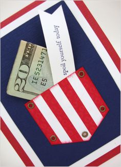 Cute idea for money card or gift certificate