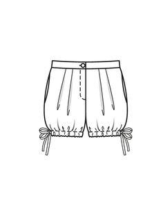 Шорты блумеры - выкройка № 116 из журнала 7/2015 Burda – выкройки шорт на Burdastyle.ru