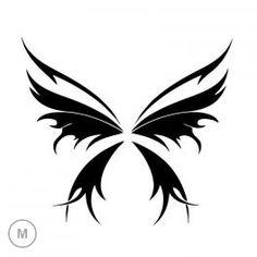 Pochoir Black Butterfly Medium