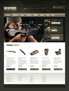 Weapons #OpenCart #Responsive Theme #CSS3 #HTML5 #JQuery #Bootstrap3 via @medosadvert #39317