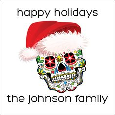 Sugar Skull Day of the Dead Personalized Holiday Labels by GothamPops on #Etsy