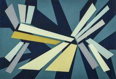 Gualtiero Nativi - Frattura, 1950 - Tempera su carta intelata, 70 x 100 cm.