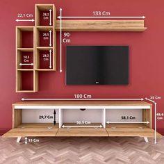 Modern Tv Wall Units, Tv Cupboard Design, Living Room Design Modern, Wall Unit Designs, Wall Mount Tv Stand, Tv Unit Interior Design, Easy Woodworking Projects Diy, Tv Room Design, Room Design