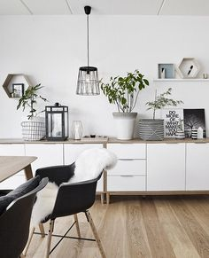 THE JYSK APARTMENT Minimalism Interior, Interior, Home Furnishings, Kitchen Shelving Units, Home Decor, Small Space Living, Green Home Decor, Home And Living, Living Room Designs