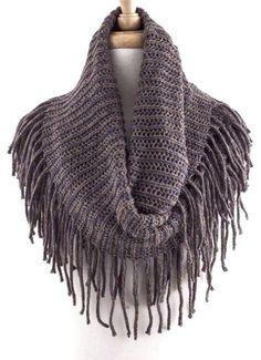 Long fringe infinity scarf