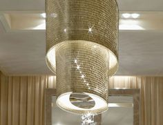 """Signature Collection: Special Order Design:  Grand 51"""" Oval Tiered Swarovski Crystal Chainmail Chandelier * Pricing By Quotation"""