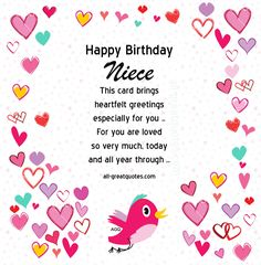 70 best birthday cards for niece images on pinterest free birthday cards for niece on facebook m4hsunfo