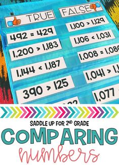 This comparing numbers pocket chart activity perfect for guided math mini whole group lessons. It is perfect to use a quick review to see what students have learned or place in a math center for independent practice.