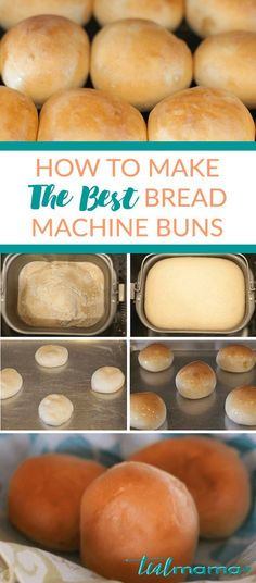 Learn how to make the best bread machine buns. Super soft and so easy to make! D… Learn how to make the best bread machine buns. Super soft and so easy to do! Delicious directly from the oven. Irresistibly delicious smell – you have to test at least one. Bread Machine Rolls, Best Bread Machine, Bread Maker Machine, Bread Machines, Bread Rolls, Cooking Bread, Bread Baking, Cooking Recipes, Cooking Broccoli