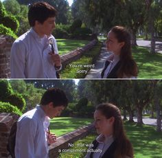 ― Donnie Darko (2001)Gretchen:You're weird.Donnie: Sorry.Gretchen: No, that was a compliment actually.