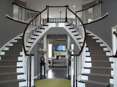 Affordable Double Staircase. Perfect Grand entryway.