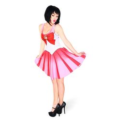 NEW  1056 Sexy Girl Women Summer cartoon cosplay Sailor Moon pink 3D Prints Reversible Sleeveless Skater Pleated Dress. Yesterday's price: US $12.00 (9.80 EUR). Today's price: US $11.04 (8.97 EUR). Discount: 8%.