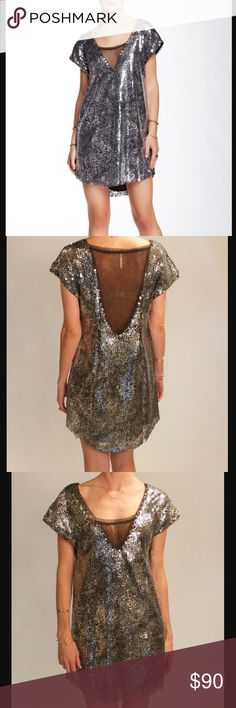 Free people midnight dreamer dress - black combo Size medium. New with tags! Free People Dresses